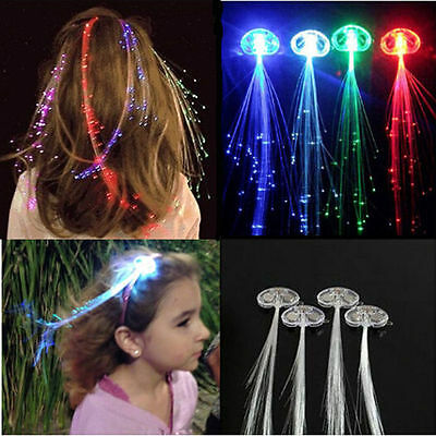 Women Girls Colorful Flashing LED Hair Braid Clip Hairpin For Party Christmas