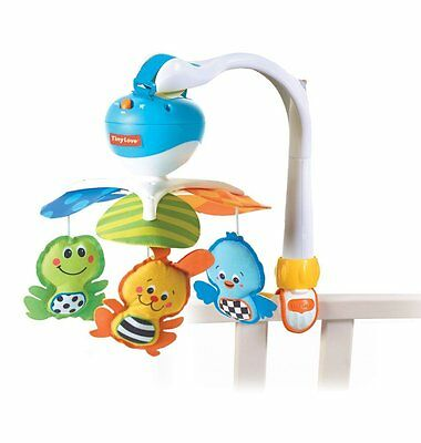 Tiny Love 00471-006 Take Along Portable Baby Mobile Animal Friends Blue New