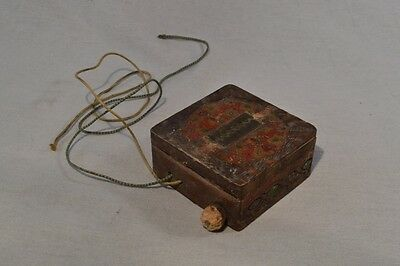 Antique Crystal Detector Radio Primitive Selfmade Wooden Decorated Box