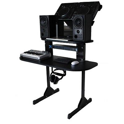 Sefour X15 XD150-901 Compact Studio Console DJ Deck Stand Gloss Black