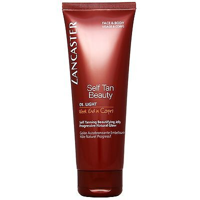 Lancaster Self Tan Beautifying Jelly For Face & Body 01 125ml for her BRAND NEW