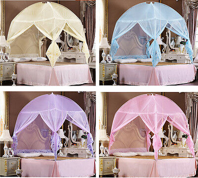 Princess Hight QC Bed Canopy Mosquito Net Tent  For Single Double King Bed Size