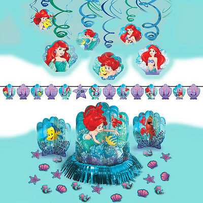 Disney Ariel Dream Big Little Mermaid Girls Birthday Party Pack Decoration Kit