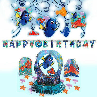 Disney Pixar Finding Dory Children's Birthday Party Pack Decoration Kit