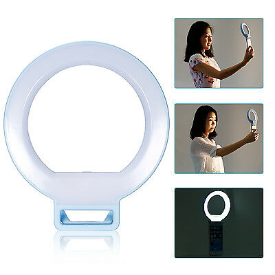 "Neewer 5"" Dimmable Selfie Clip-on Ring Light f Night or Darkness Lighting (Blue)"