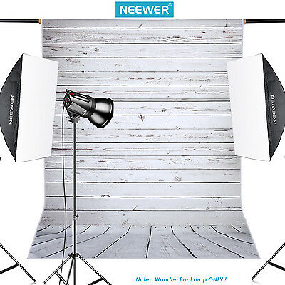 Neewer 5x7ft Light Grey Wooden Cotton Backdrop Background f Photography Studio
