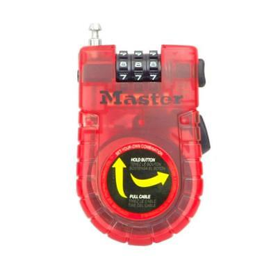 New Master Lock 4605D Vinyl Coated 3' Retractable Cable