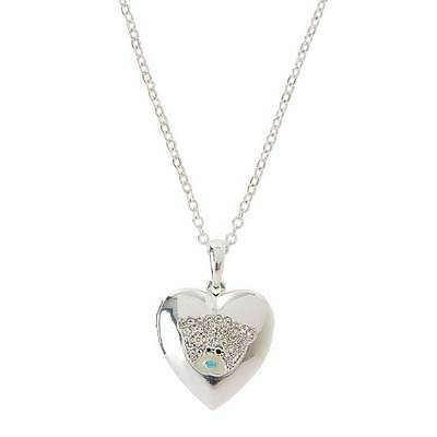 Me to You Tatty Teddy -Silver  Locket with Crystal Stones Gift Boxed Jewellery