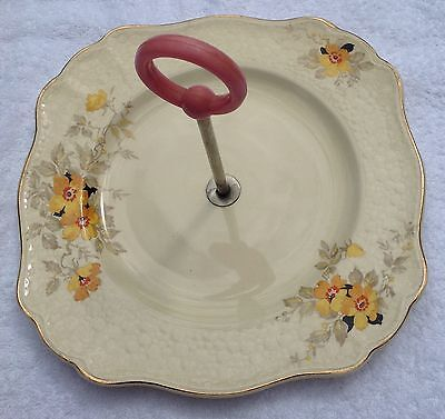 "Cake Stand J & G Meakin  Sunshine ""annabelle"" Design Made In England"