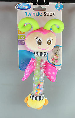 Playgro Twinkle Stick Rattle (3mths+) Butterfly or Puppy Dog - Brand New