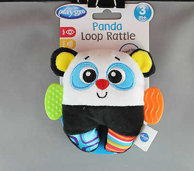 Playgro Loop Rattle (3mths+) Ladybird or Panda - Brand New