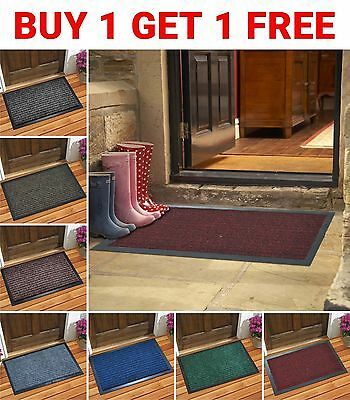 Heavy Duty Non Slip Floor Mat Machine Entrance Washable PVC Rubber Back Door Mat