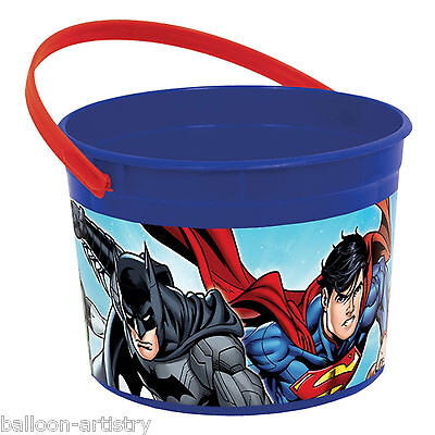 DC Comics JUSTICE LEAGUE Children's Party Plastic Loot Favour Container Pot