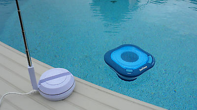 Swimline Pool Tunes Floating Speaker In Pool Wireless Transmitter Sound System