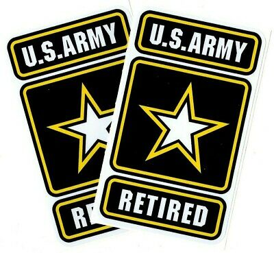 "# 2 - US Army Retired Decals | Size 1.6 wide x 2.8"" tall  