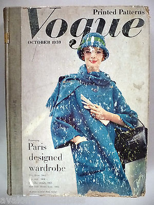 Vogue Patterns CATALOG - October, 1959 ~~ Large Store Counter Pattern Book