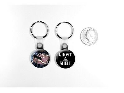 Ghost in the Shell Anime Cyberpunk Poster Sci-Fi Set of 2 Key Chains