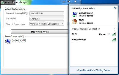 Virtual Router Software (Share PC WiFi Connection With Phone, Laptop, Tablet+)
