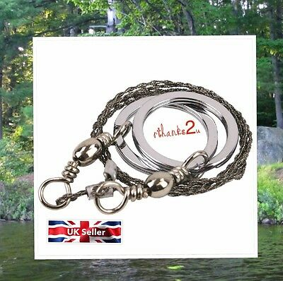 Steel Wire Saw 55cm Mesh Wire Safety Survival Camping Military Hiking UK Seller