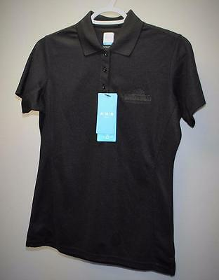 New Ladies AUR ACTIVE SMALL black short sleeve golf polo shirt Whitevale GC