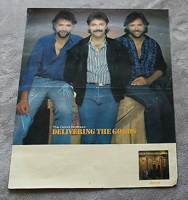 Good Brothers 1986 Brian Bruce Larry Delivering Savannah Promo Poster GVG C5