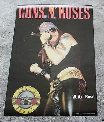 Guns N' Roses W. Axl Rose 1990s? Solo Rare Canada Trends Music Poster VGEX C7
