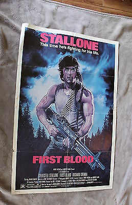 First Blood 1982 Sylvester Stallone RAMBO #1 ORIGINAL Crenna OneSheet Poster GVG