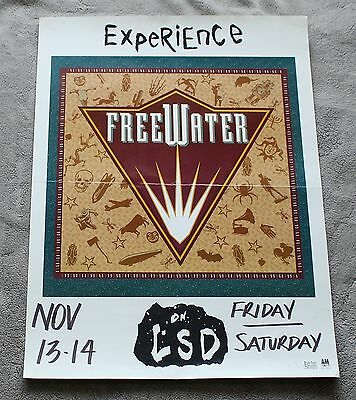 FreeWater on LSD Experience 1990s A&M London Smith PROMO Concert Poster VGEX C7