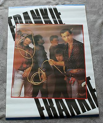 Frankie Goes to Hollywood 1984 Cowboy Lasso Group Portrait UK Music Poster VGEX