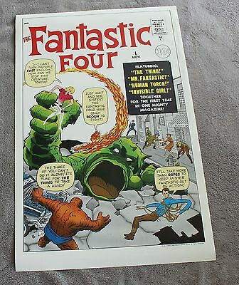 """Fantastic Four #1 1985 JACK KIRBY Thing Human Torch 22 x 34"""" Marvel Poster VG+"""