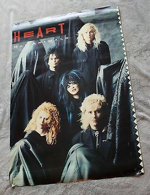 HEART Bad Animals 1987 Nancy Ann Wilson Ben Smith Craig Bartock Music Poster G