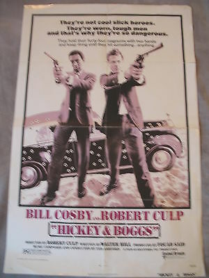 HICKEY AND BOGGS 1972 Bill Cosby Robert Culp Cops  RARE One Sheet Poster VGEX C7