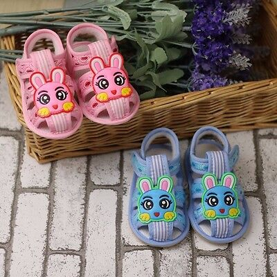 baby shoe Big eyes Meng rabbit sandals Soft bottom infant shoes first walkers