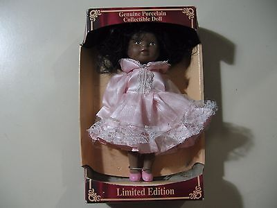 "7"" Limited Edition Porcelain doll, NEW in box, NIB"