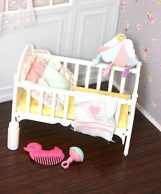 Vintage My Little Pony G1 Baby Sweet Dreams Crib Bed Playset LOT Bottle Rattle