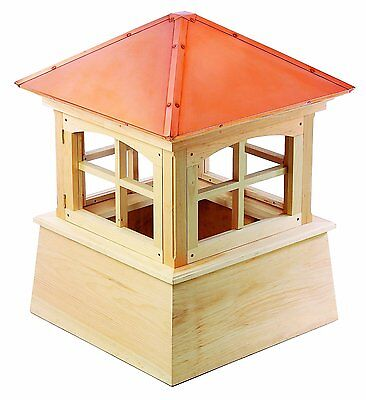 "Good Directions Huntington Cupola 26""es x 36""es Cypress Wood-Copper New"