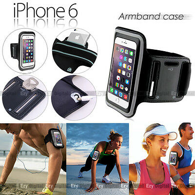 BLACK Running GYM Armband Case F Apple iPhone 3G 4S 5 5S 6 6S Plus & 7 Plus