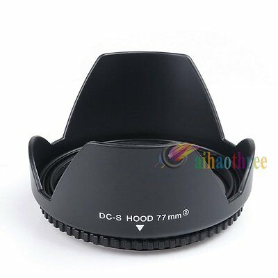 New 77mm Reversible Petal Flower Lens Hood For Canon Nikon Sony Olympus Camera