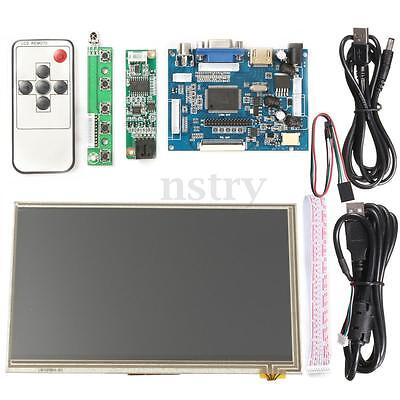 "7"" HD Touch Screen Display LCD 1024x600 HDMI Module Kit Set For Raspberry Pi AU"
