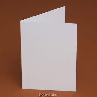 50 A6 blank cards only -105 x148mm White, Ivory,Cream, Linen, Hammer or Smooth
