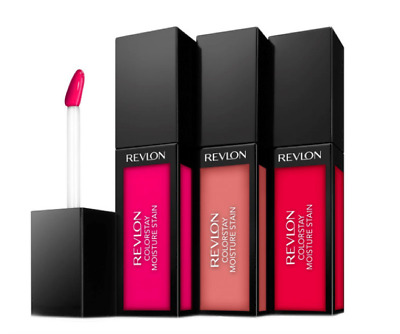 Revlon Colorstay Moisture Stain Lipgloss  Colour (Square Case)  Red Pink Choose