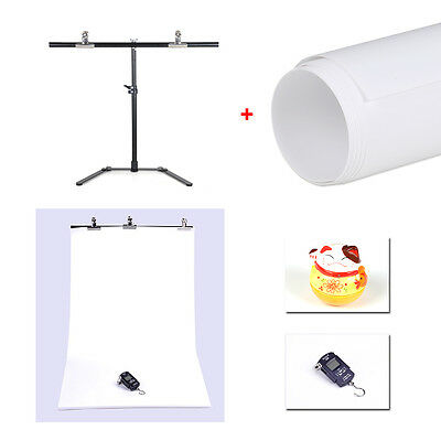 Photography Small 68*68cm Support Stand+ White PVC Backdrop Background