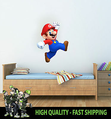 Printed Wall Art Wall Mario Nintendo Graphic Sticker Decal