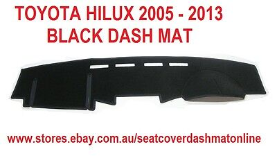 Dash Mat, Dashmat, Black Dashboard Cover Fit Toyota Hilux 2005 - 2013, Black