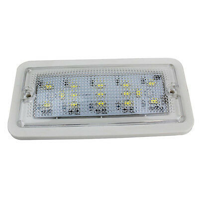 15 LED Car Roof Dome Ceiling Auto Interior Van Vehicle Light Lamp DC 12/24V UK