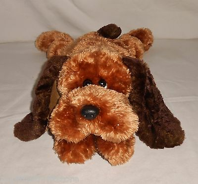 """2001 Retired TY Classic 14"""" Plush Two-Tone Brown Hound Dog """"Memphis"""""""