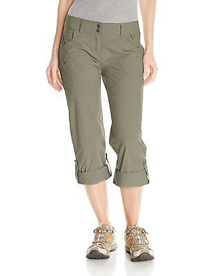 35% Off! New Women's Exofficio Nomad Roll-Up Pants, Size 6, Bay Leaf.