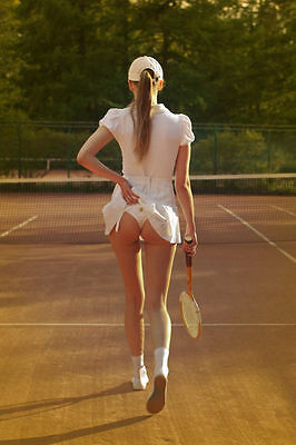 Tennis Girl Classic A4 260GSM Poster Print