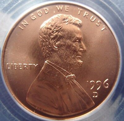 1996-D Lincoln Memorial Cent PCGS MS68RD 14253816 12162016