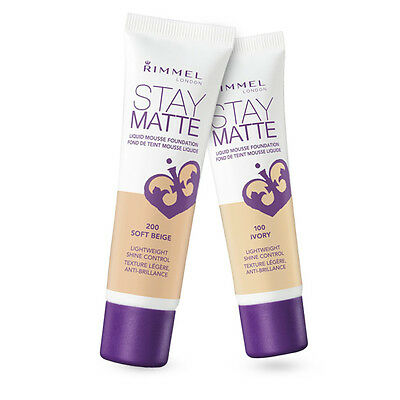 RIMMEL LONDON STAY MATTE LIQUID MOUSSE FOUNDATION - 30 ml - CHOOSE YOUR SHADE